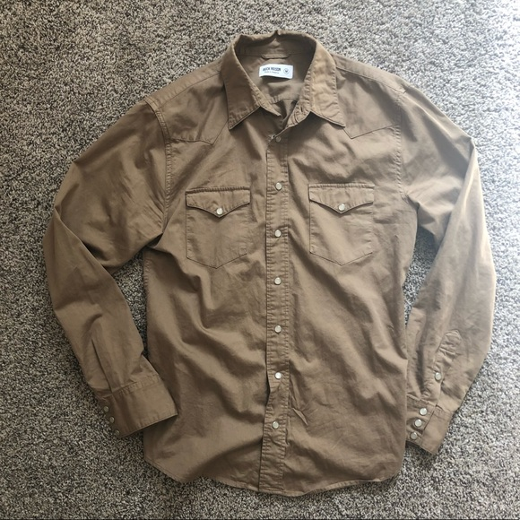 79b1981bb03 buck mason Other - Buck Mason Tan Button Up Longsleeve